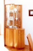Glasvitrine mit Kommode, L 102, T 60, H 204