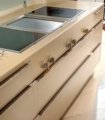 Küche kombiniert-Nuss Massivholz
