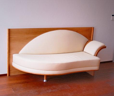 Sitz-Liege in Leder